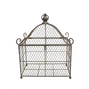 "Terrarium cage d'oiseau 13½x11½x7¼"" grande"